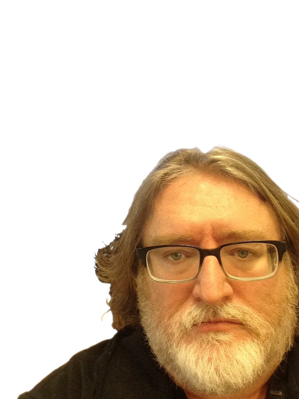 Gaben face clear png. Where is gabe newell