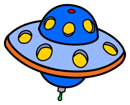 Vector ufo flying saucer. Unidentified object extraterrestrial life