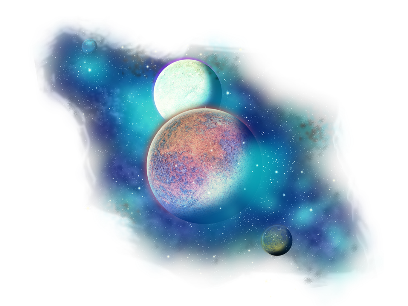 planets clipart collage