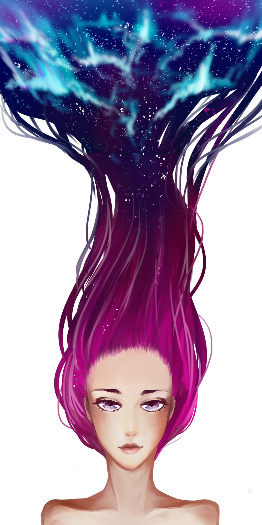 Galaxy hair png. Google search shoot pinterest