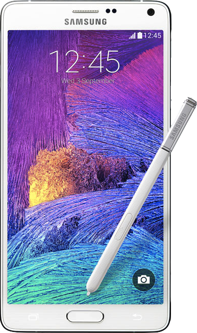 Galaxy note 4 png. Actual size of samsung