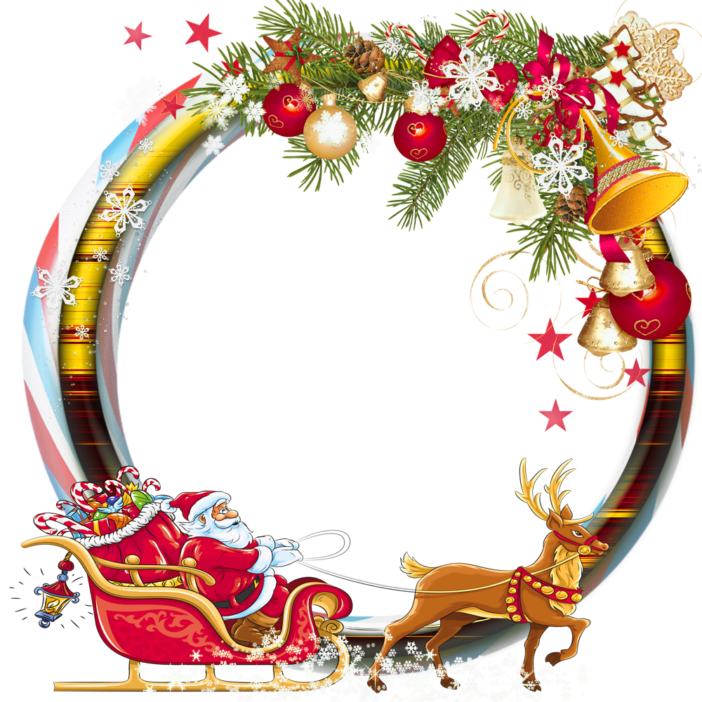 Round transparent frame with. Free christmas photo frames and borders png clipart transparent