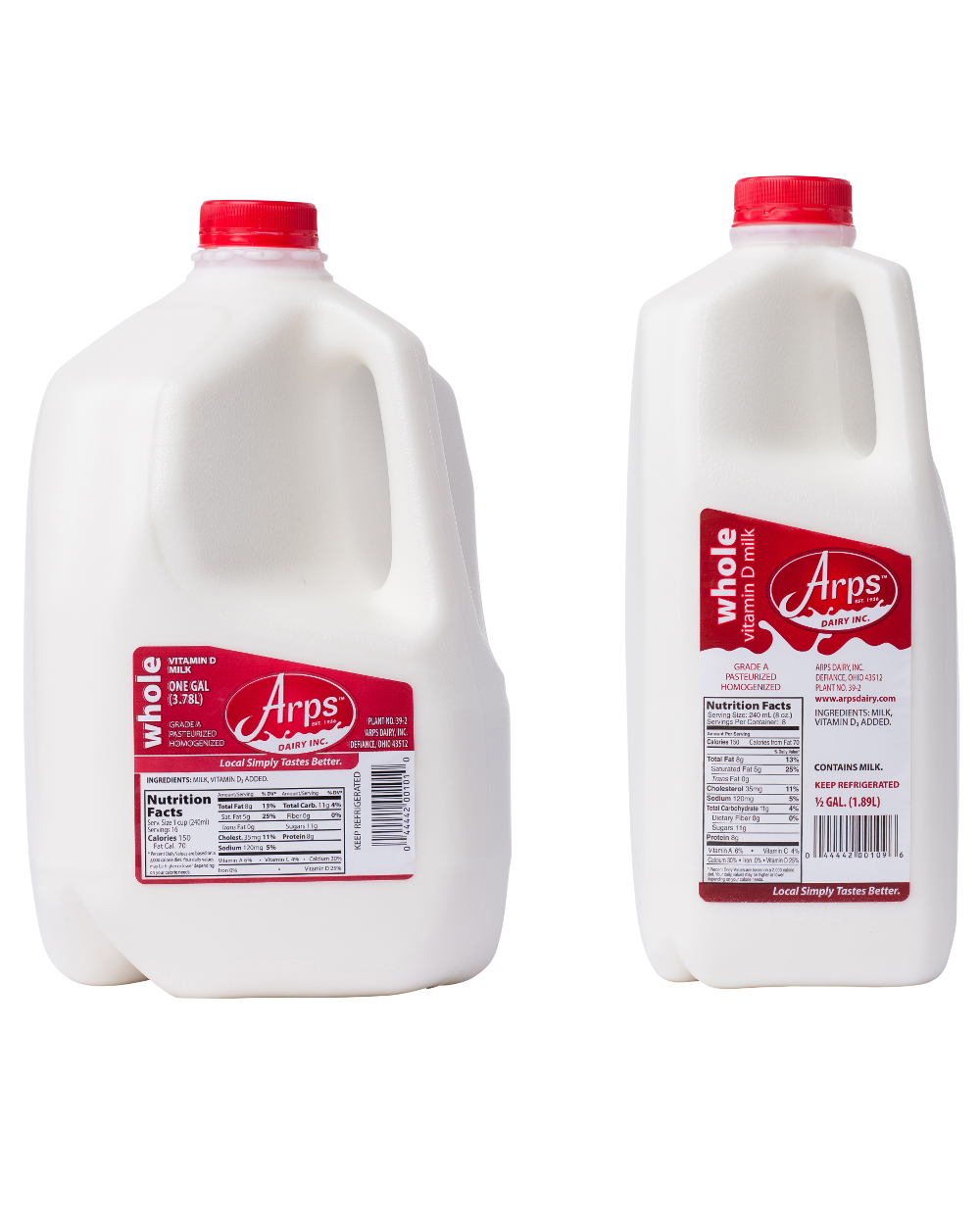 Gallon of milk png. Whole arps dairy all