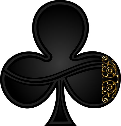 Gambling vector drawing. Image of clover sign