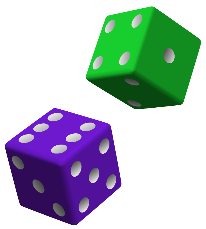 Dice clipart one. Free gambling pictures download