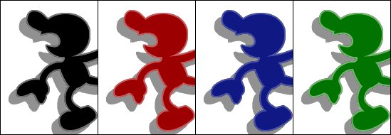 Game and watch parachute png. Mr super smash bros