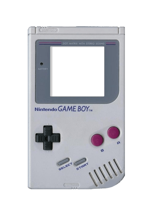 Gameboy transparent. Vintage png stickpng