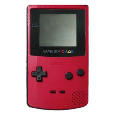 Gameboy transparent high tech. Red game boy color