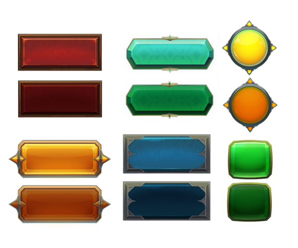 Game button png. Royalty free gui art