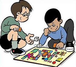 Toddler clipart indoor. Free board games game