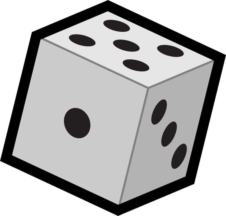 Drawing dice clipart. Download game graphic arts