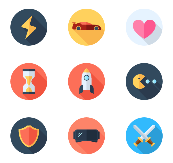 Games png icon. Game controller packs