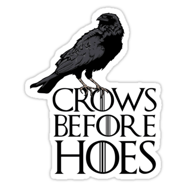 Game of thrones crow png. Stickers and t shirts