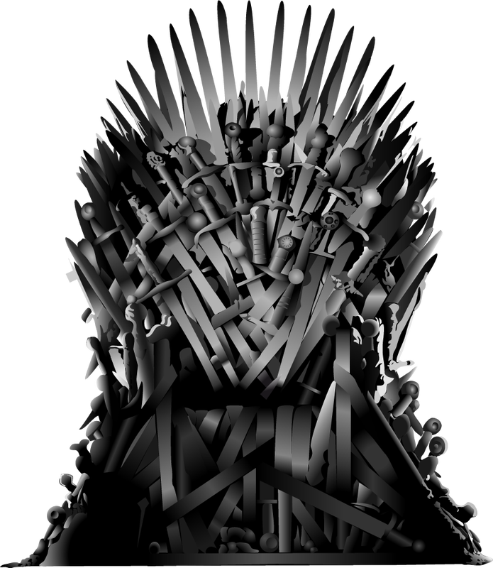 Game of thrones throne png. Everybody dies harder at