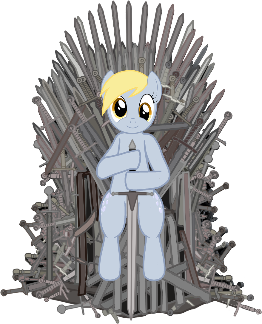 Game of thrones throne png. Derpy hooves iron pinterest