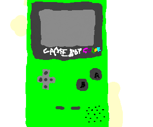 Gameboy drawing console. Game boy color by