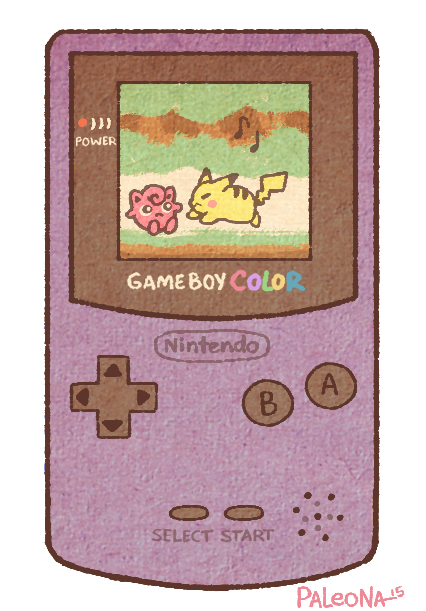 Gameboy drawing. Transparent background shared by