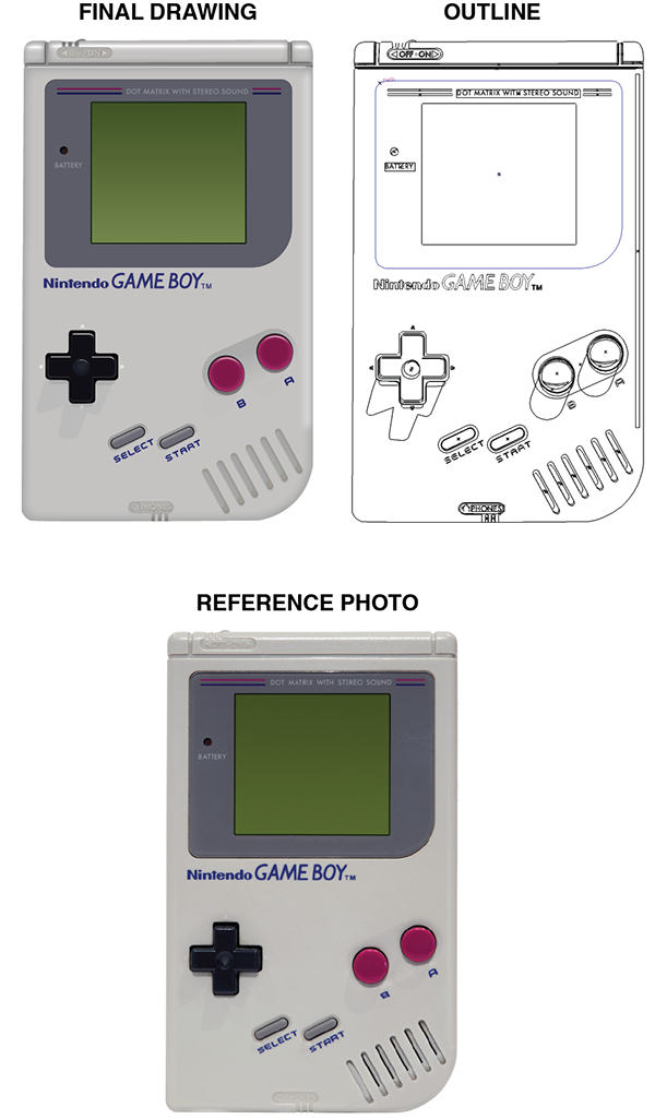 Gameboy drawing console. Realistic vector on behance