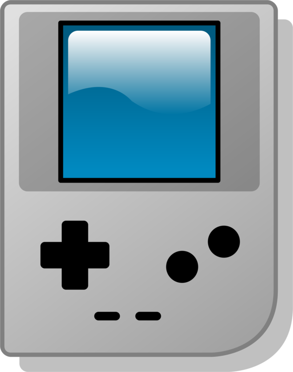 Gameboy drawing console. Boy games clip art