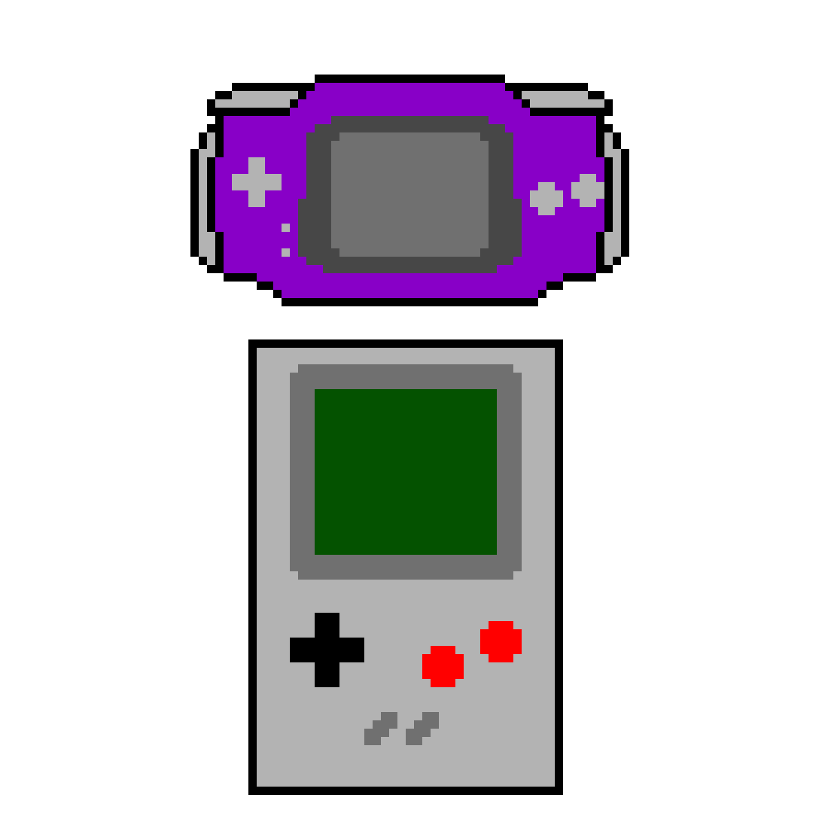 Gameboy drawing black and white