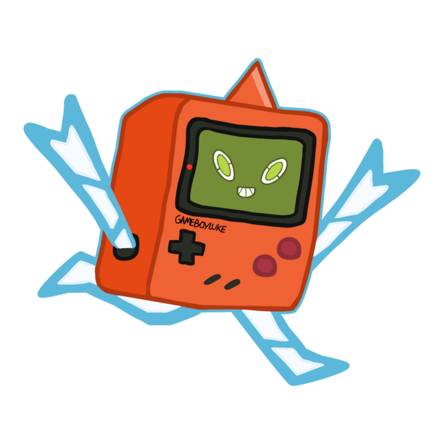Gameboy drawing pokemon. Gift form rotom by
