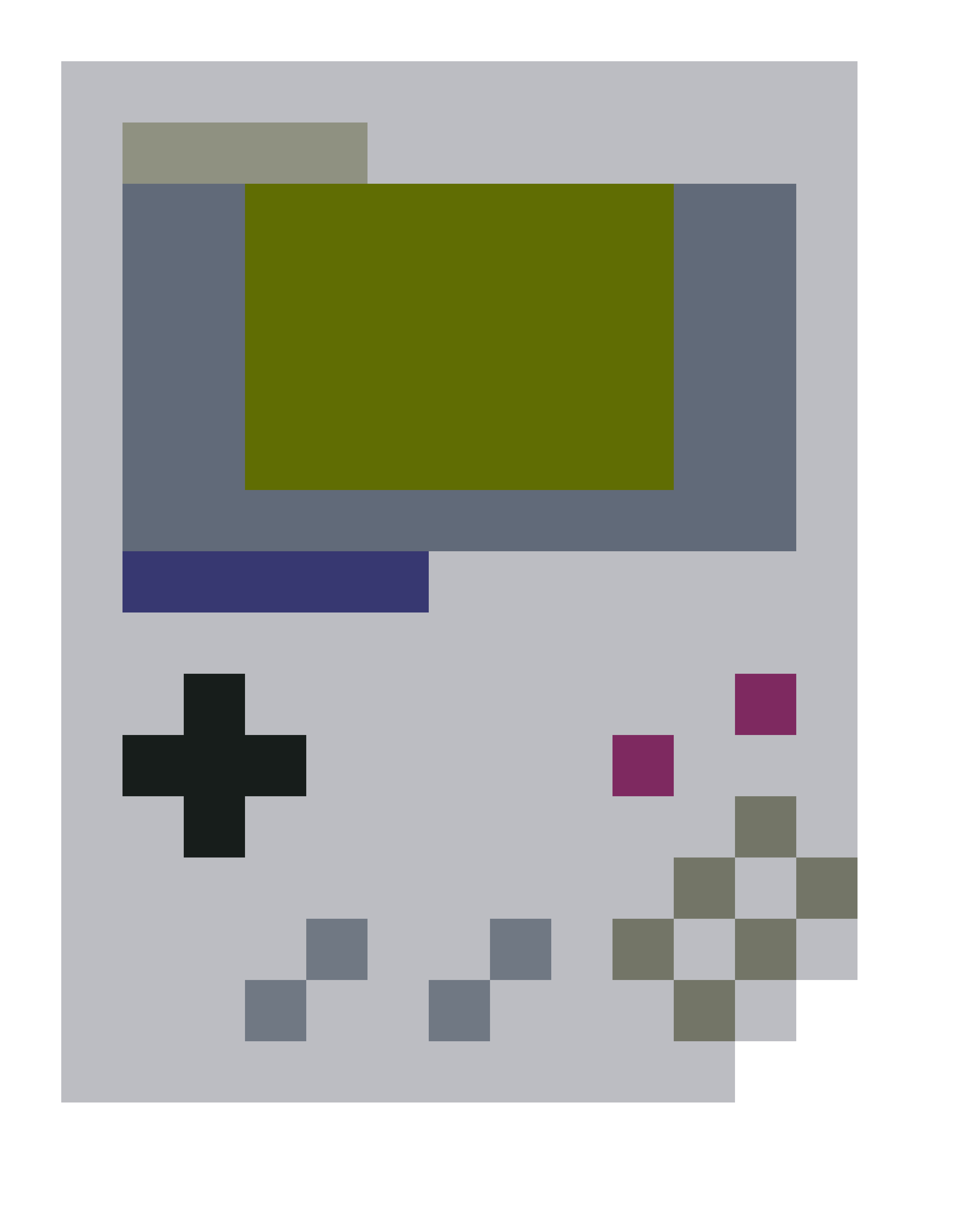 Gameboy drawing trick art. Pixel by nightgloomnick on