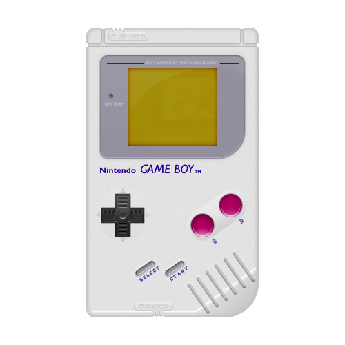 Gameboy transparent. Realistic game boy design