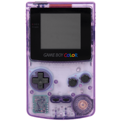 Gameboy transparent high tech. Game boy color purple