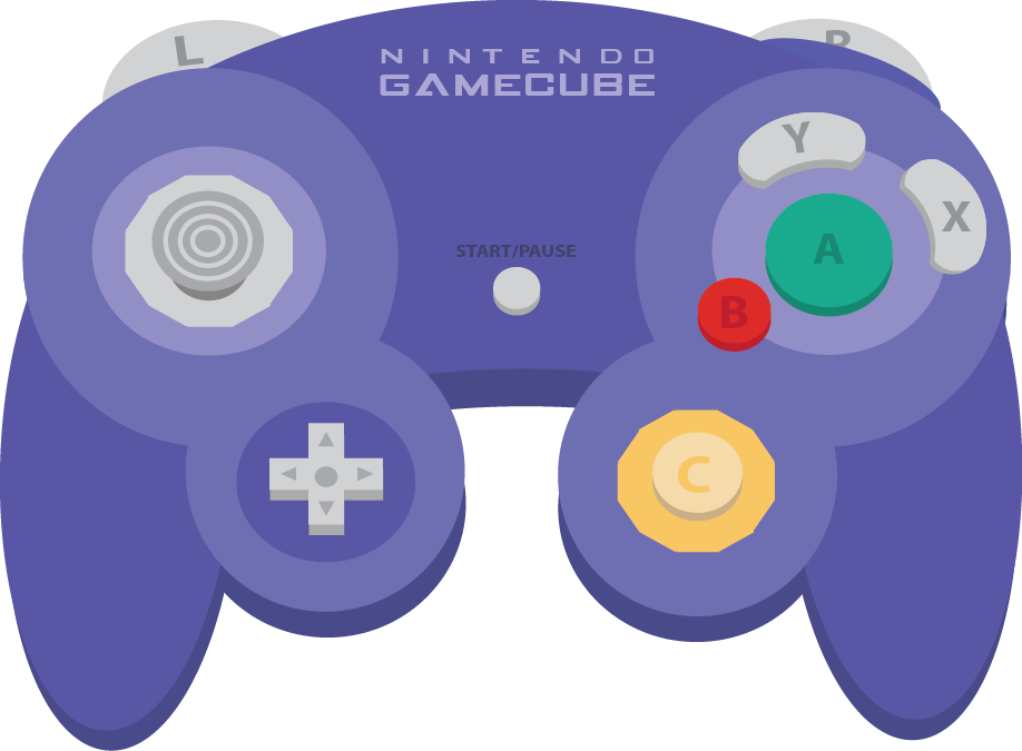 Gamecube Controller Buttons Png Picture 1840543 Gamecube