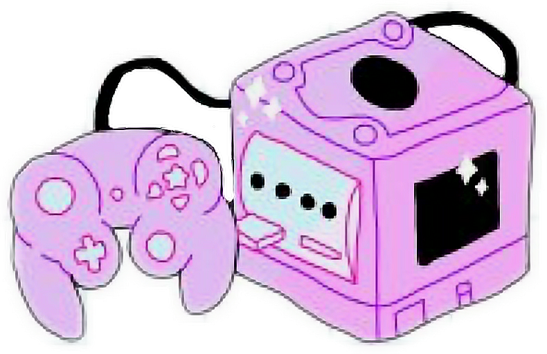 Gamecube pink game aesthetic