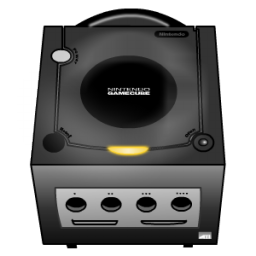 Gamecube transparent black and white. Icon console iconset sykonist