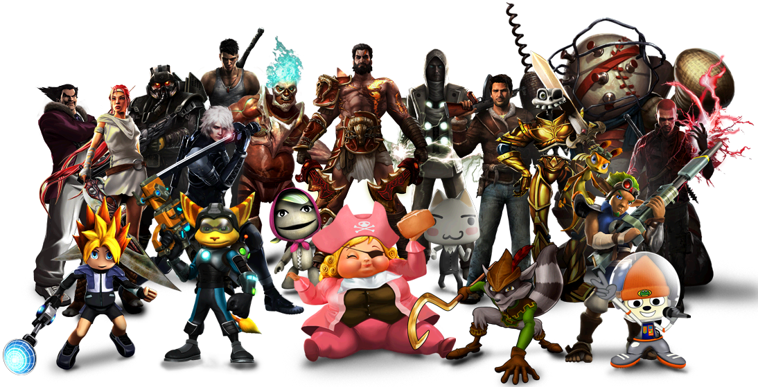 Games characters png. Image preorder playstation all