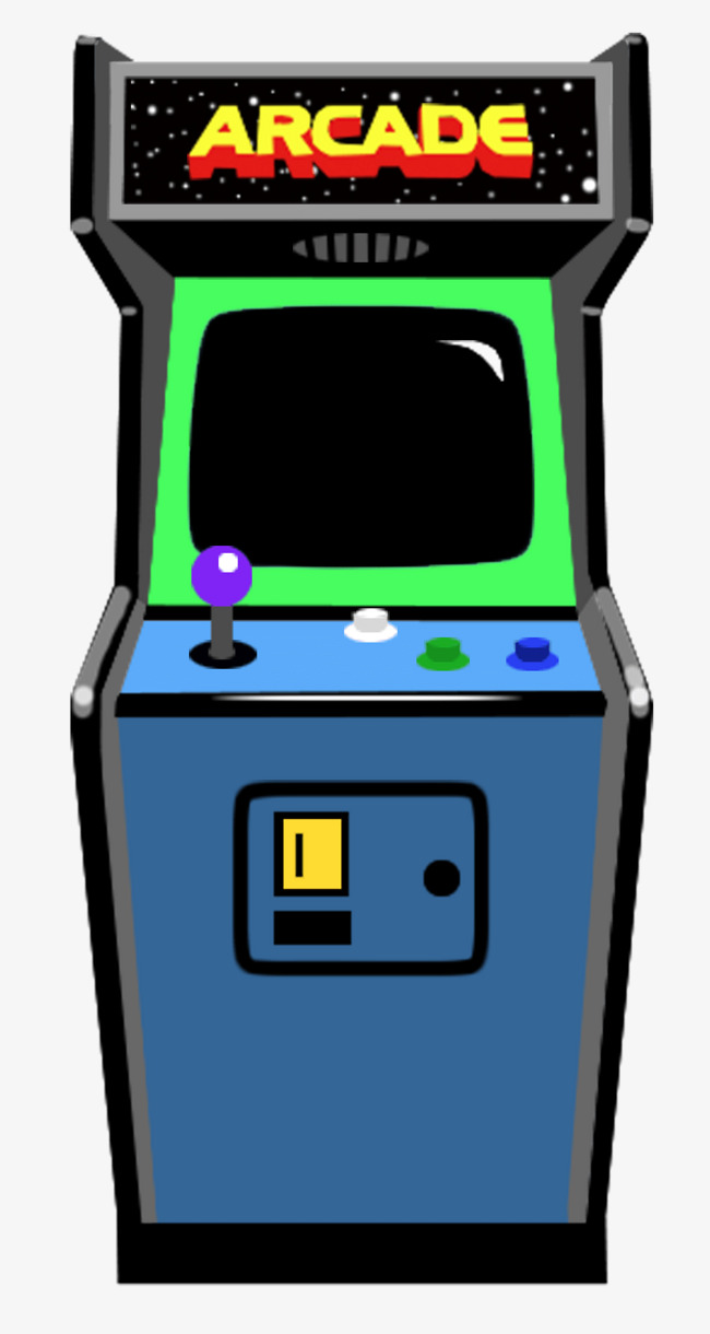 Games clipart game room. Cartoon machine video electronics