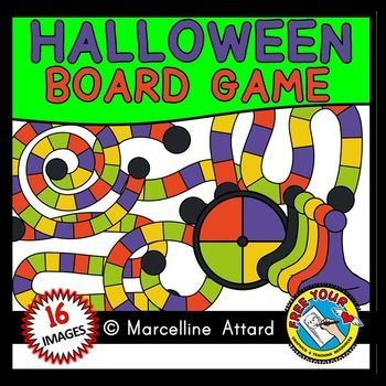 Games clipart halloween. Game board template pieces