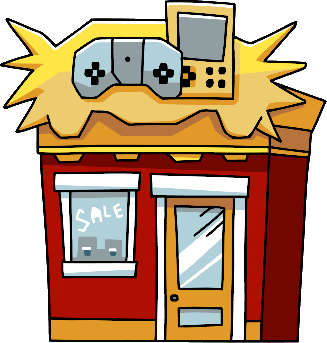 Games clipart video. Game store scribblenauts wiki
