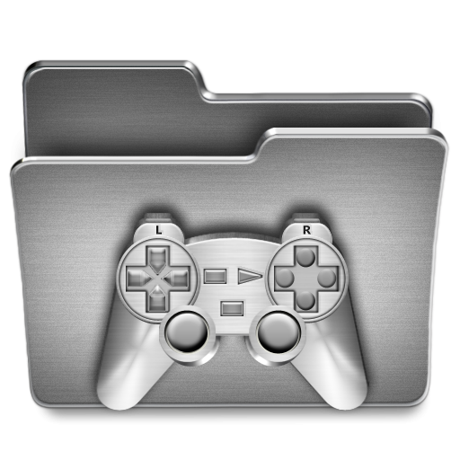 Games folder icon png. Steel clipart image iconbug