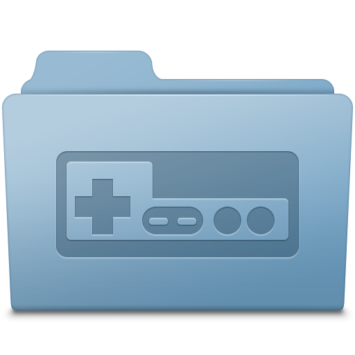 Games folder png. Game blue icon smooth