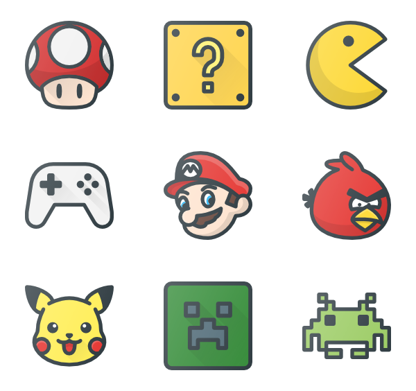 Games png. Video icon packs