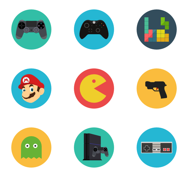 Games png icon. Gamer packs vector