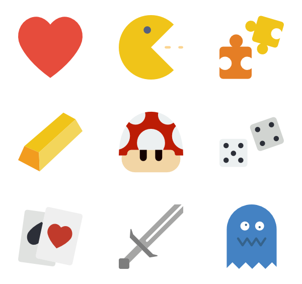 Games png icon. Game packs vector