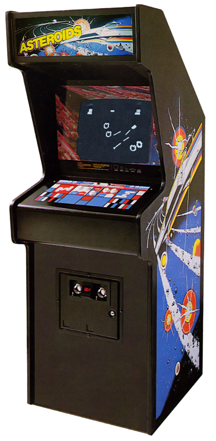 Games vector asteroids. The dot eaters cabinet