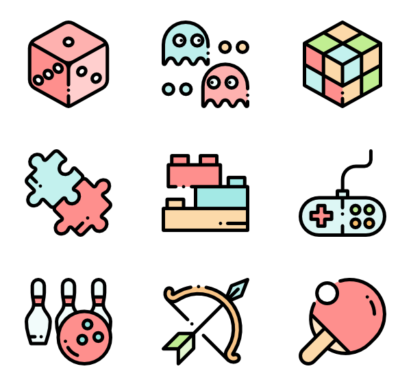 Games vector board. Game icons free