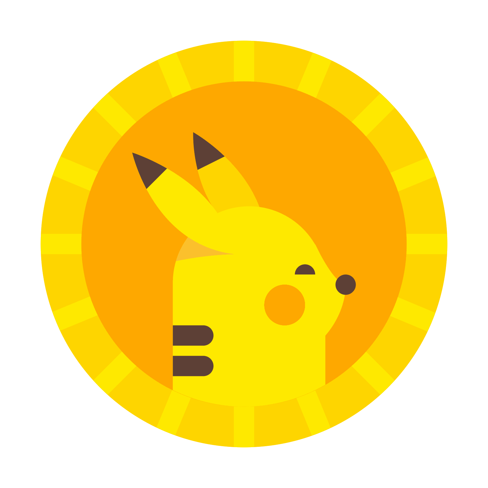 Pokecoin icon free download. Vector coin png image free