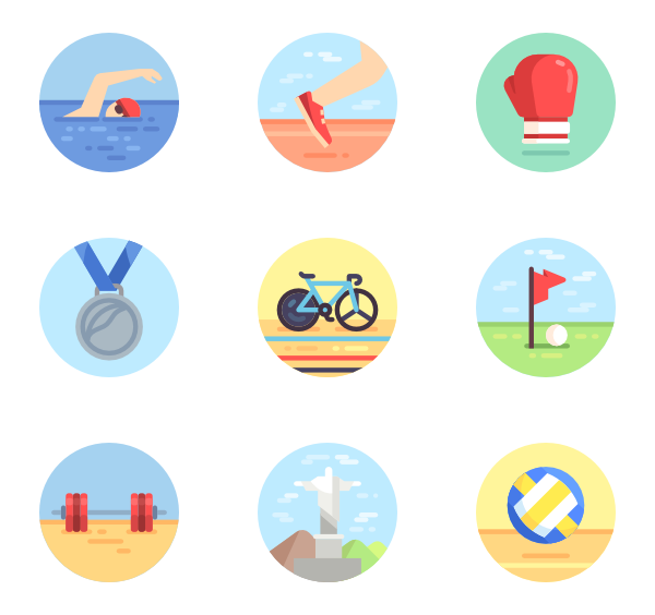 Games vector flat. Olympic icon packs