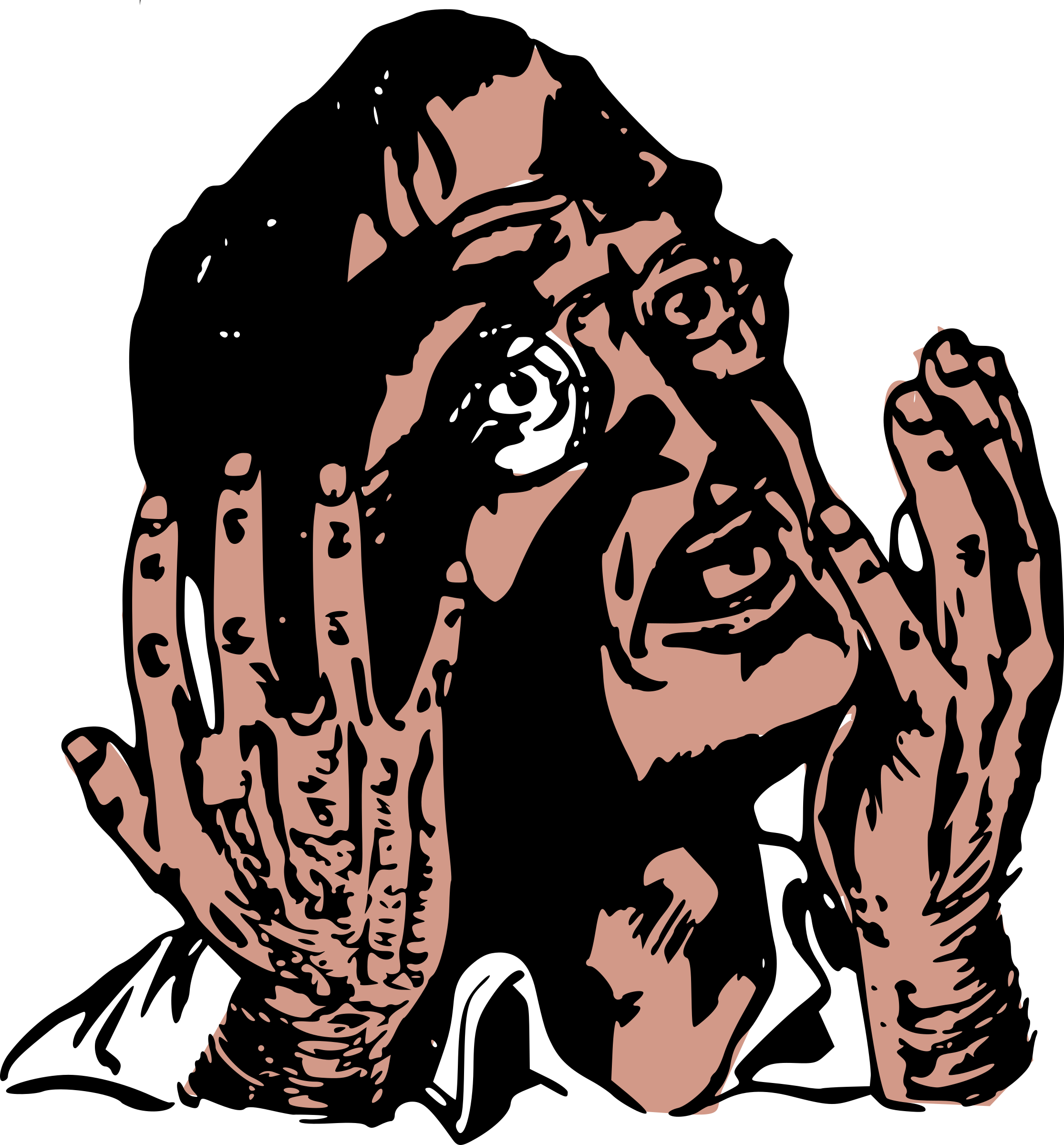 Horror vector art. Man in icons png