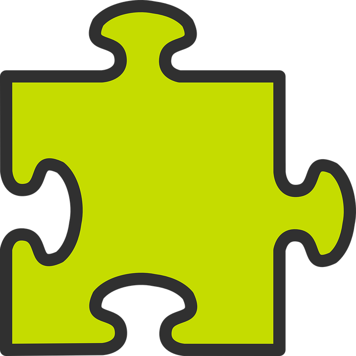 Games vector puzzle. Piece image group free