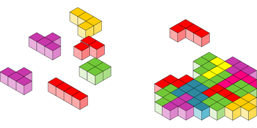 Games vector tetris. Blocks words kiss me