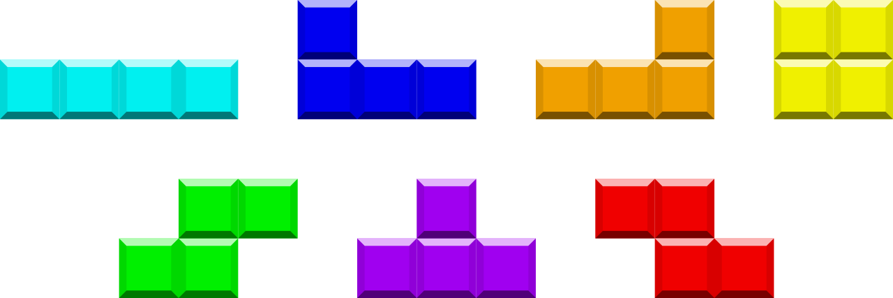 Games vector tetris. File tetrominoes ijlo stz