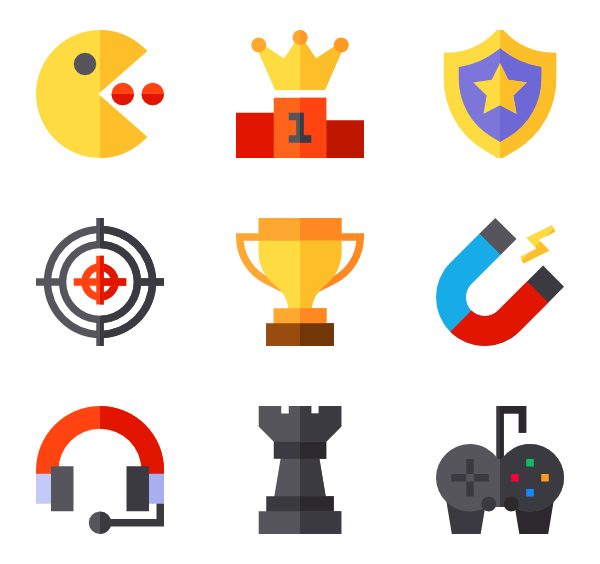 Games vector flat. Dice icons free