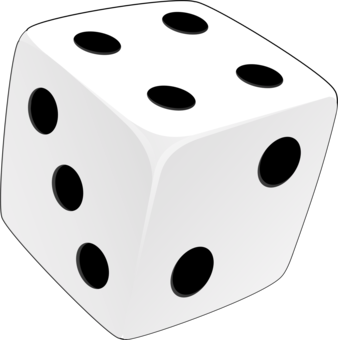 Drawing dice. Role playing game regular